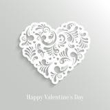 Fondo floral del corazón de Absrtact Fotografía de archivo