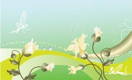 Fondo floral del Fairy-tale. Fotos de archivo