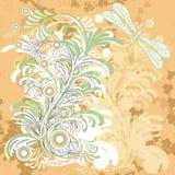 fondo floral del grunge Foto de archivo