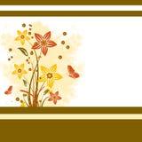 Fondo floral del Grunge Foto de archivo libre de regalías