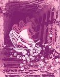Fondo floral del grunge Fotos de archivo