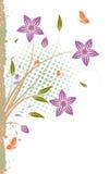 Fondo floral del Grunge aislado en blanco Imágenes de archivo libres de regalías