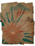 fondo floral del grunge con las líneas Fotografía de archivo libre de regalías