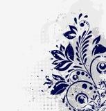 Fondo floral del grunge del invierno ilustración del vector