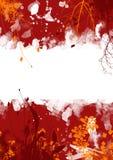 Fondo floral del grunge rojo Fotografía de archivo libre de regalías