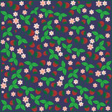 Fondo floral del jardín de las bayas de las fresas de la flor del modelo inconsútil Fotografía de archivo