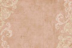 Fondo floral del libro de recuerdos de la vendimia Fotografía de archivo libre de regalías