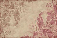 Fondo floral del libro de recuerdos de la vendimia Foto de archivo libre de regalías