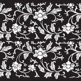 Fondo floral del libro de recuerdos del damasco de la vendimia libre illustration