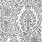 Fondo floral del libro de recuerdos del damasco de la vendimia Imagen de archivo libre de regalías