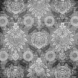 Fondo floral del libro de recuerdos del damasco de la vendimia sucia Fotos de archivo