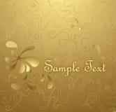 Fondo floral del oro Imagen de archivo
