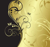 Fondo floral del oro libre illustration