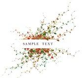 Fondo floral del otoño stock de ilustración