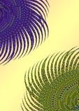 Fondo floral del pavo real stock de ilustración