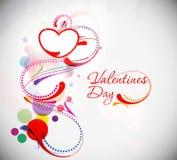 Fondo floral del texto del día de tarjetas del día de San Valentín Foto de archivo libre de regalías