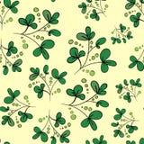 Fondo floral del vector con las hojas y las ramas del verde Fotografía de archivo