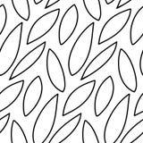 Fondo floral del vector de líneas exhaustas Imagenes de archivo
