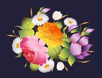 Fondo floral del vector de la decoración del vintage Imagen de archivo libre de regalías