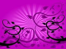 Fondo floral del ventilador de la lila stock de ilustración