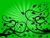 Fondo floral del ventilador verde libre illustration