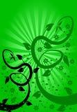 Fondo floral del ventilador verde ilustración del vector