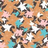 Fondo floral del vintage con las hojas beige Textura de Borgo?a para las telas y las tejas ilustración del vector