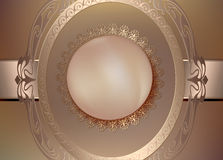 Fondo floral del vintage con las perlas y el ornamento ilustración del vector