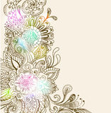 Fondo floral drenado mano Fotos de archivo libres de regalías