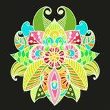 Fondo floral elegante, elemento floral dibujado mano del garabato Fotos de archivo libres de regalías