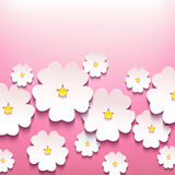 Fondo floral elegante hermoso con la flor 3d Fotografía de archivo libre de regalías