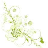 Fondo floral, elemento para su diseño Imagen de archivo libre de regalías