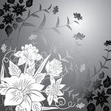 Fondo floral, elementos para el diseño, vector stock de ilustración
