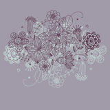 Fondo floral en colores del purpure Foto de archivo