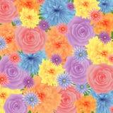 Fondo floral en colores pastel Imagen de archivo libre de regalías