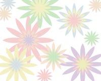 Fondo floral en colores pastel retro Imagen de archivo