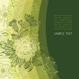 Fondo floral en colores verdes Fotos de archivo