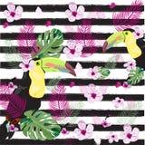 Fondo floral femenino de la primavera del diseño gráfico Fotos de archivo
