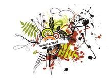 Fondo floral fresco abstracto con de su texto Foto de archivo libre de regalías