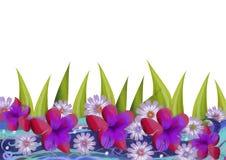 Fondo floral Ilustración de la acuarela stock de ilustración