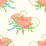 Fondo floral inconsútil Fotografía de archivo