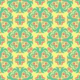 Fondo floral inconsútil coloreado multi Modelo rosado del verde azul y del amarillo Fotografía de archivo libre de regalías
