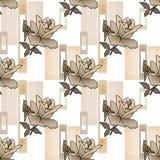 Fondo floral inconsútil de la textura del modelo de las rosas del remiendo Foto de archivo libre de regalías