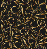 Fondo floral inconsútil de oro Imagen de archivo libre de regalías