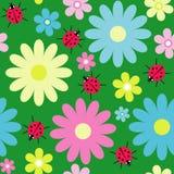 Fondo floral inconsútil decorativo Imagenes de archivo