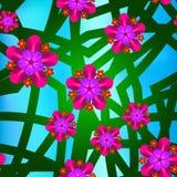 Fondo floral inconsútil del modelo Vector Fotos de archivo libres de regalías