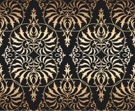 Fondo floral inconsútil del ornamento del damasco del vector Fotos de archivo libres de regalías