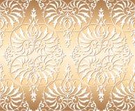 Fondo floral inconsútil del ornamento del damasco del vector Imagenes de archivo