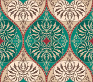 Fondo floral inconsútil del ornamento del damasco del vector Fotografía de archivo libre de regalías