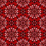 Fondo floral inconsútil Modelo blanco y negro en el contexto rojo Fotografía de archivo